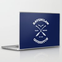 quidditch Laptop & iPad Skins featuring Ravenclaw Quidditch Team Seeker: Blue by Sharayah Mitchell