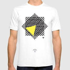 The Triangle Experiment Mens Fitted Tee MEDIUM White
