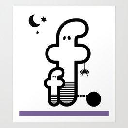 ABC: F Art Print