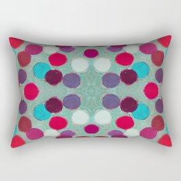 Turquoise Tangential Coterie Rectangular Pillow