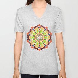 Colors Sun Mandala Unisex V-Neck