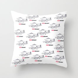 TRAIL BLAZERS HAND-DRAWING DESIGN Throw Pillow