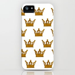 Golden Crown I iPhone Case