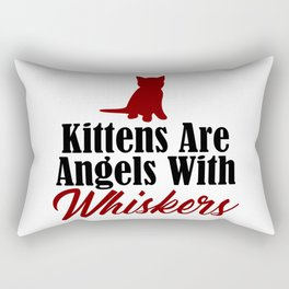 Cat Lover Kitten Angels Whiskers Angel Heaven Pet Rectangular Pillow