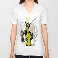 berserk V-neck T-shirts featuring Wolverine - Berserker by RISE Arts