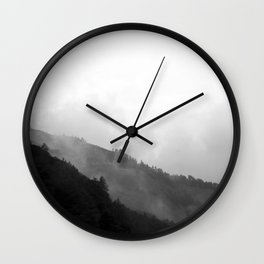 Foggy Mountain Wall Clock