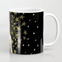 "Art Deco Sepia Illustration ""Star Studded Glamor"" Coffee Mug"