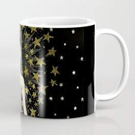 "Art Deco Sepia Illustration ""Star Studded Glamor"" Coffee Mug"