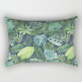 Tropical Branches on Dark Pattern 08 Rectangular Pillow
