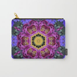 Floral finery - vivid kaleidoscope 20170321_135334 e k1 Carry-All Pouch