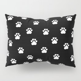 Cat's hand drawn paws in black and white Pillow Sham