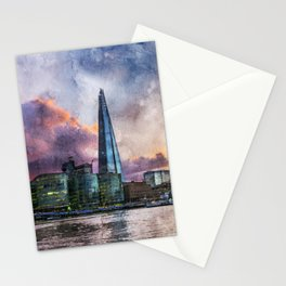 london-river-thames-city-england Stationery Cards