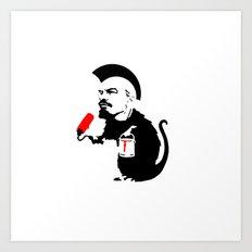 Social Rat Art Print
