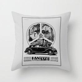 Panhard 1936 classic French art deco auto Throw Pillow