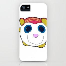 cute panda smiling iPhone Case