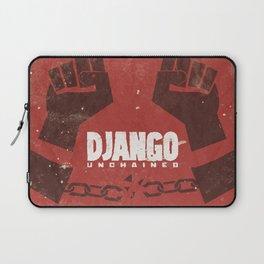 Django Unchained, Quentin Tarantino, minimalist movie poster, Leonardo DiCaprio, spaghetti western Laptop Sleeve