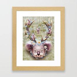 KOALA BEAR HORNS UP Framed Art Print