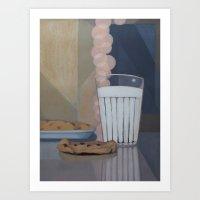 Milk and Cookies Art Print