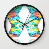 destiny Wall Clocks featuring Destiny by inkko