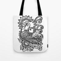 rooster Tote Bags featuring Rooster by MotherSpoon