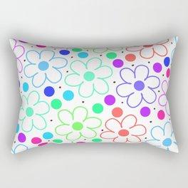 FUN FLOWERS Rectangular Pillow