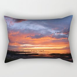 Stunning Seaside Sunset Rectangular Pillow