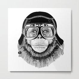 Chimpanzee Speed Rebel Metal Print