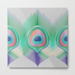 Peacock Pattern_G04 Metal Print