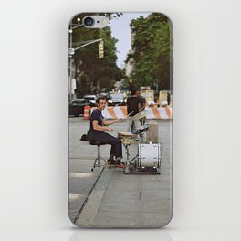 Drummer in the Park iPhone Skin