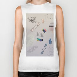Abstractions: Mixed Media Composition I Biker Tank