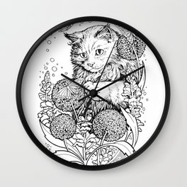 Color-Me Feline: Maine Coon Wall Clock