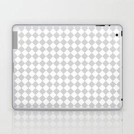 Small Diamonds - White and Light Gray Laptop & iPad Skin