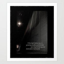 If the light.... Art Print