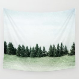 Pine Line Snow Wall Tapestry