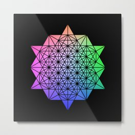 64 Star Tetrahdron Metal Print