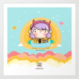 Kawaii heaven Art Print