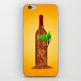 Eco-friendly Wine Illustration iPhone Skin