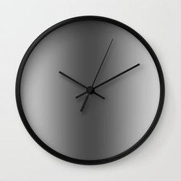 Gray to Black Vertical Bilinear Gradient Wall Clock