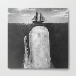 The Whale - mono (exclusive to S6) Metal Print