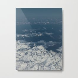 Aerial view of the alps (switzerland) Metal Print