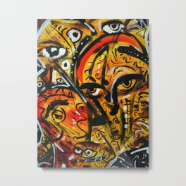 The third eye expressionist art Metal Print