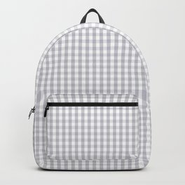 Mini Grey Harbour Mist Gingham Tartan 2018 London Fashion Color Backpack