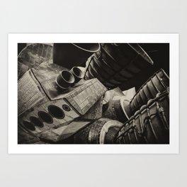 Rocket, man! Art Print