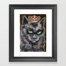 King Cat Framed Art Print