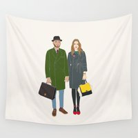 couple Wall Tapestries featuring Couple by uzualsunday