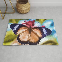 Beautiful Monarch Butterfly Rug