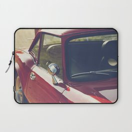 Sportscar, supercar, windscreen details, red triumph spitfire, english car Laptop Sleeve