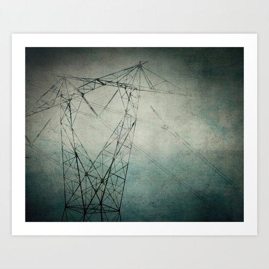 The Power of Line Art Print