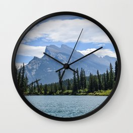 Mount Rundle from Bow River Wall Clock