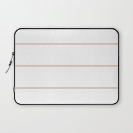 White background with beige lines Laptop Sleeve